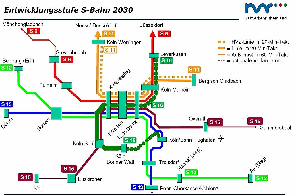 S Bahnnetz Köln